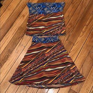 Tube Top & Skirt Set